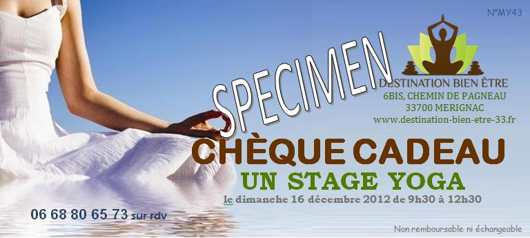 cheque cadeau stage yoga